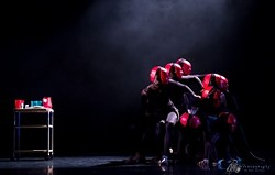 """TWO-FACED :  Orchesis Dance Company performs Ryan Badilla's """"Coexistence"""" in last year's concert, Immersion (pictured.) This year's concert, Suspension, includes five performances by students or recent graduates. - PHOTOS BY KIEL CARREAU"""