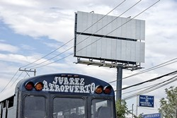 STREET VIEW:  Photographer Jorge Arreola Barraza captures the bleakness, blankness, and struggle of his hometown of Juarez, Mexico, with his striking exhibit Espacio de Paz running at the Harold J. Miossi Art Gallery this Oct. 2 through 10. - PHOTO BY JORGE ARREOLA BARRAZA