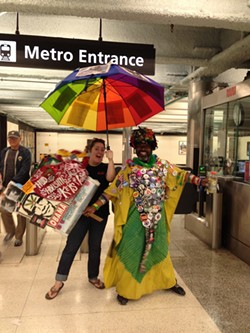 IT'S RAINING MEN :  Writer Maeva Considine made some colorful connections the weekend of San Francisco's Gay Pride on June 28 and 29. - PHOTO BY MAEVA CONSIDINE