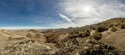 IN SEARCH OF RAIN:  A view from the top of the Diablo Range, near Jack Varian's ranch. - PHOTO BY HENRY BRUINGTON
