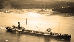 LONG HAUL :  The 440-foot Montebello was launched 90 years ago. - PHOTO BY TASK FORCE
