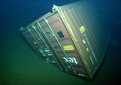 DAVY JONES' LOCKER :  An 8-by-40-foot steel shipping container lost at sea in 2004, and discovered lying approximately 4,000 feet below the surface in the Monterey Bay National Marine Sanctuary, has become the focus of a groundbreaking oceanographic research project.
