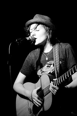 DEVLIN!:  Singer-songwriter Kat Devlin returns to the area with a set at Laetitia on Jan. 14. - PHOTO BY LAUREN DEBELL