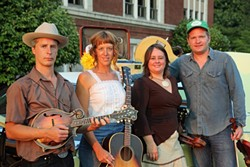 OLD MUSIC, FRESH MUSICIANS:  Fodhorn Stringband will bring its old-timey to the Red Barn Concert Series on Feb. 11. - PHOTO COURTESY OF FOGHORN STRINGBAND