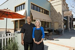KABOBS GALORE :  A new Jaffa café has opened in Old Town Arroyo Grande and husband and wife team Wendy and Ali Saleh invite you to share their Mediterranean fare. - PHOTO BY STEVE E. MILLER