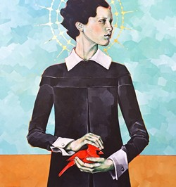 """CARDINAL RULE:  Lena Rushing's """"Cardinal"""" will be one of three works shown by the artist at Johnson Gallery's Summer Pop Up Show. - IMAGE BY LENA RUSHING"""