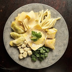BY ANY NAME :  Tagliatelle, pappardelle, ravioli, or linguine; whatever its form, Giuseppe's pasta is light, impeccably fresh, and perfectly cooked. - PHOTO BY STEVE E. MILLER