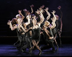 RAZZLE-DAZZLE!:  Terra C. MacLeod (front and center) stars as Velma Kelly in Chicago, playing Nov. 4 and 5 in the SLO PAC. - PHOTO BY PAUL KOLNIK