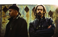 """TEAM WORK :  NAS and Damian """"Jr. Gong"""" Marley play the Avila Beach Resort on Oct. 17. - PHOTO COURTESY OF OTTER PRODUCTIONS, INC."""