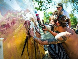 CLAIM YOUR CANVAS :  About 100 renowned artists from across the county and the world will converge in Downtown City Park for Paso ARTSFEST's main event. - PHOTO COURTESY OF STUDIOS ON THE PARK