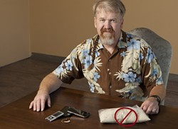 NO RICE! :  Scott Talmadge, owner of C&E DryServ, can dry out iPods, phones, and hearing aids with his proprietary technology and he heartily recommends not using rice because it takes too long and may lead to corrosion in your equipment. - PHOTO BY STEVE E. MILLER