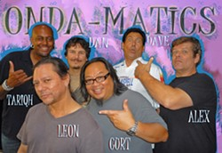 ALL STARS :  Comprised of six professional gunslingers who've played with everyone from Johnny Cash to Mariah Carey, the Onda-Matics play the Operation Surf 2010 benefit concert for wounded servicemen on Sept. 2 at Mo-Tav. - PHOTO COURTESY OF THE ONDA-MATICS