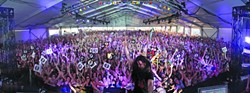 THE FUTURE OF AVILA :  This concert shot of Bassnectar at The Hangout in Alabama is indicative of the scene to expect when they play Sept. 16 at Avila Beach Resort. - PHOTO COURTESY OF BASSNECTAR