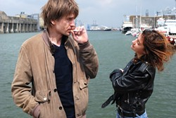 ENIGMATICALLY FRENCH :  Provincial 16-year-old Iris (Lola Créton, right) and 40-year-old Parisian photographer Jean (Stanislas Merhar) develop an amorous relationship in Iris in Bloom. - PHOTO COURTESY OF FILMS BOUTIQUE