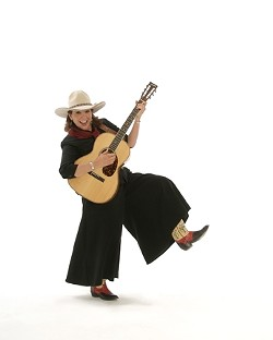 YEE HAW! :  On June 17, the Cambria Historical Society hosts an outdoor concert with singer-songwriter Juni Fisher at the Cambria Historical Museum. - PHOTO COURTESY OF JUNI FISHER