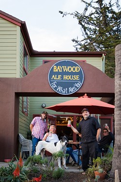 BELLY UP TO THE BAR:  Baywood Ale House Owner Chad Carroll (left) and Manager Christopher Mayes (right) welcome locals and visitors alike into their laidback craft beer hangout. - PHOTO BY KAORI FUNAHASHI