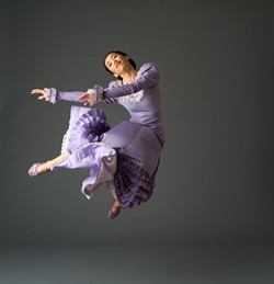 """HERE COMES THE…:  Miki Ohara dances the role of the bride in """"Appalachian Spring."""" - PHOTO COURTESY OF THE MARTHA GRAHAM DANCE COMPANY"""