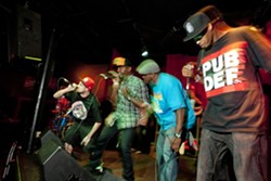 PUBDEF IN THE HOUSE :  Two-time NTMA hip-hop champs Public Defendaz play a release party for their new album Drawn2Gether, on May 12 at The Z Club. - PHOTO BY STEVE E. MILLER