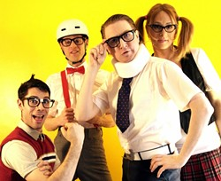 NERD ROCK! :  Eighties rockers The Spazmatics return to SLO Brew on April 21. - PHOTO COURTESY OF THE SPAZMATICS