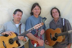 THREE FOR THE ROAD :  Together for almost 20 years, Keith Greeninger, Roger Feuer, and Kimball Hurd are City Folk, playing March 25 at Coalesce Bookstore and March 26 at Castoro Cellars. - PHOTO COURTESY OF CITY FOLK