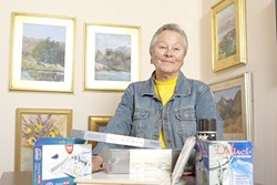 PAINTERLY LADY :  The newly opened Baywood Fine Art Gallery is the fulfillment of Mimi Hafft's goal of giving plein air painters a place to exhibit their work. - PHOTO BY STEVE E. MILLER