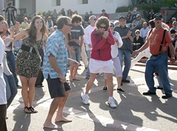 CHECK OUT THESE SWEET MOVES! :  Folks of every stripe turn out for Concerts in the Plaza. - PHOTO BY GLEN STARKEY
