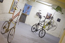 A SEUSSICAL BIKE :  The back room of the bike art gallery is filled with the unusual and unexpected. - PHOTO BY STEVE E. MILLER