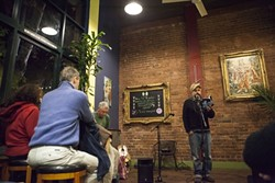 SONG OF THE SEA:  Poet Yousset Alaoui read from his newest book, 'Death at Sea.' - PHOTO BY COLIN RIGLEY