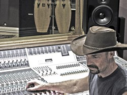 BEHIND THE BOARD:  Author Mark Huntley Parsons primarily wrote drum- and recording-based nonfiction before penning his debut YA novel. - PHOTO COURTESY OF POLAR PRODUCTIONS