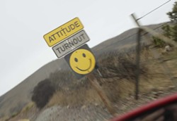 KITCHY:  Just one of the quirky signs lining the road to Diablo Canyon. - PHOTOS BY STEVE E. MILLER