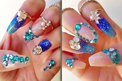 3-D EXPERIENCE:  Posh Couture owner Yessie Nojas found her creative outlet in adding bling and unique 3-D elements to nails. - PHOTO COURTESY OF YESSIE NOJAS