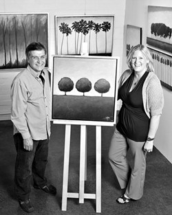 BRANCHING OUT :  Ron and Wendy Rogers bring new beauty to Atascadero in the Red Tree Gallery. - PHOTO BY STEVE E. MILLER