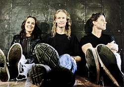 LICENSED TO SHRED:  The Travis Larson Band will deliver an evening of ripping instrumental prog rock at Frog and Peach on July 31. - PHOTO COURTESY OF THE TRAVIS LARSON BAND