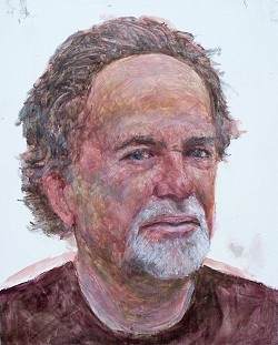 MARK BRYAN :  Local artist Mark Bryan is known for his politicized surrealist artwork.
