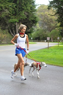 RUN, WENDELIN, RUN :  Local author Wendelin Van Draanen says she's not obsessed with running, but she does regularly pound the pavement. - PHOTO COURTESY OF RANDOM HOUSE/WENDELIN VAN DRAANEN