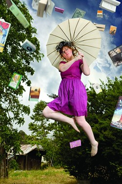 I'LL NEVER GROW UP!:  Author Ashley Schwellenbach eschews borings author photos. - PHOTO ILLUSTRATION BY COLIN RIGLEY