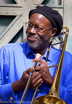THE ART OF JAZZ :  The Wayne Wallace Quartet plays the debut of the SLO Art Center's new jazz series on Jan. 15. - PHOTO BY DAVID BELOVE