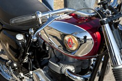 SEE BIKES LIKE THIS BSA!:  In addition to BSAs, you'll see classic Triumphs, Vincents, Nortons, BMWs, Matchless, and more! - PHOTO BY STEVE E. MILLER