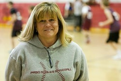 DOUGH FINDER :  Even though Debbie Caruana's sixth grade daughter doesn't play sports, this athletics enthusiast dedicates several hours per week to spearhead the fundraising effort that's saved middle school sports in Paso Robles.