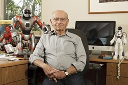 THE FATHER OF MODERN ROBOTICS :  After a career in robotics at USC, George Bekey lives in Arroyo Grande and is dedicating himself to robotics ethics. - IMAGE COURTESY OF PATRICK LIN