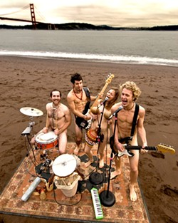THE NAKED TRUTH! :  Oakland-based quartet Antioquia will deliver their peculiar blend of experimental rock and African-inspired polyrhythms at Mr. Rick's on Feb. 12. - PHOTO COURTESY OF ANTIOQUIA