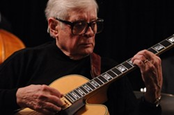 HOMECOMING:  On Nov. 16, The Famous Jazz Artist Series returns to Cambria at the Cambria Allied Arts Theatre with legendary jazz guitarist Mundell Lowe. - PHOTO COURTESY OF MUNDELL LOWE