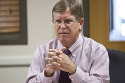 """D.A., WE HARDLY KNEW YE:  After more than 15 years as the uncontested top prosecutor in SLO County, District Attorney Gerald """"Gerry"""" Shea announced that he won't be seeking re-election in June 2014. - FILE PHOTO BY STEVE E. MILLER"""