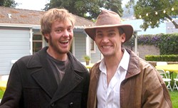 INDY AND ME:  Kevin Magon came to the fourth annual Charity Movie Night in full costume, reprising his role as Indiana Jones from the YPNG spoof Quest for the Sacred Can, which you should watch.
