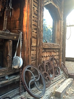 """WAGON WHEEL:  Lazy Arrow Adventures at Camatta Ranch is an old Western """"town"""" crawling with exotic critters. - PHOTO BY CAMILLIA LANHAM"""