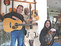 TRIPLE TROUBLE :  (Left to right) Crusty Don Lampson is an awe-inspiring singer-songwriter, and Charlie Kleemann and Eric Brittain are superb musicians. Together, this band of brothers will pick and sing a matinee performance on Oct. 17 at the Porch Café in Santa Margarita. - PHOTO COURTESY OF THE PORCH CAFE