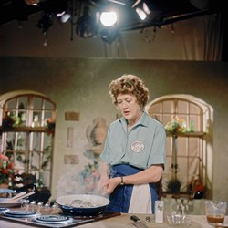 THE FRENCH CHEF:  America's first TV chef, the beloved Julia Child, is the inspiration for the inaugural Santa Barbara Food - and Wine Weekend, held June 6 through 8 at Bacara Resort & Spa. - PHOTO COURTESY OF SCHLESINGER LIBRARY, RADCLIFFE INSTITUTE, HARVARD UNIVERSITY