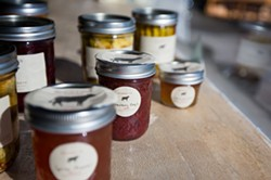 NATURE'S CANDY:  Stormy T's small-batch jars of jams, jellies, and pickled produce are packed with fresh, seasonal flavors just waiting to wake up your mouth. Try his better-than-candy pickled beets in a brine of red wine vinegar, cinnamon, allspice, star anise, clove, and ginger that you may just want to dab behind your ears—or drink straight from the jar. - PHOTO BY KAORI FUNAHASHI