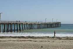 WORK TO BE DONE:  The county is set to approve more than $500,000 to take care of immediate work on the deteriorating Cayucos Pier—partially closed since July—that will keep it standing until the county can secure permits needed for a permanent fix. - FILE PHOTO BY STEVE E. MILLER