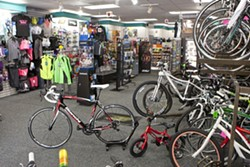 RUN, RUN AS FAST AS YOU CAN:  SLO Bike and Run understands the needs of its athletic customers. - PHOTO BY STEVE E. MILLER